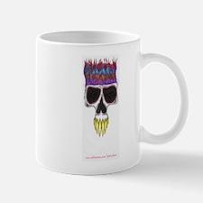 flaming skull Mug