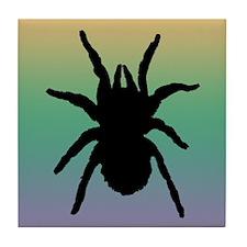 Black Tarantula Tile Coaster