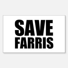 Save Farris Rectangle Decal