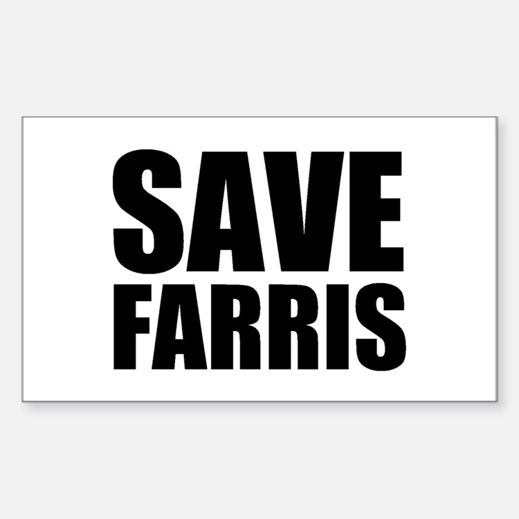 Save Farris Rectangle Decal