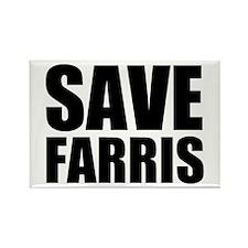 Save Farris Rectangle Magnet