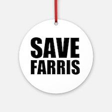 Save Farris Ornament (Round)