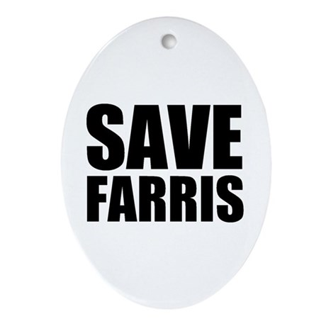 Save Farris Oval Ornament