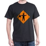 Flagman Sign Black T-Shirt