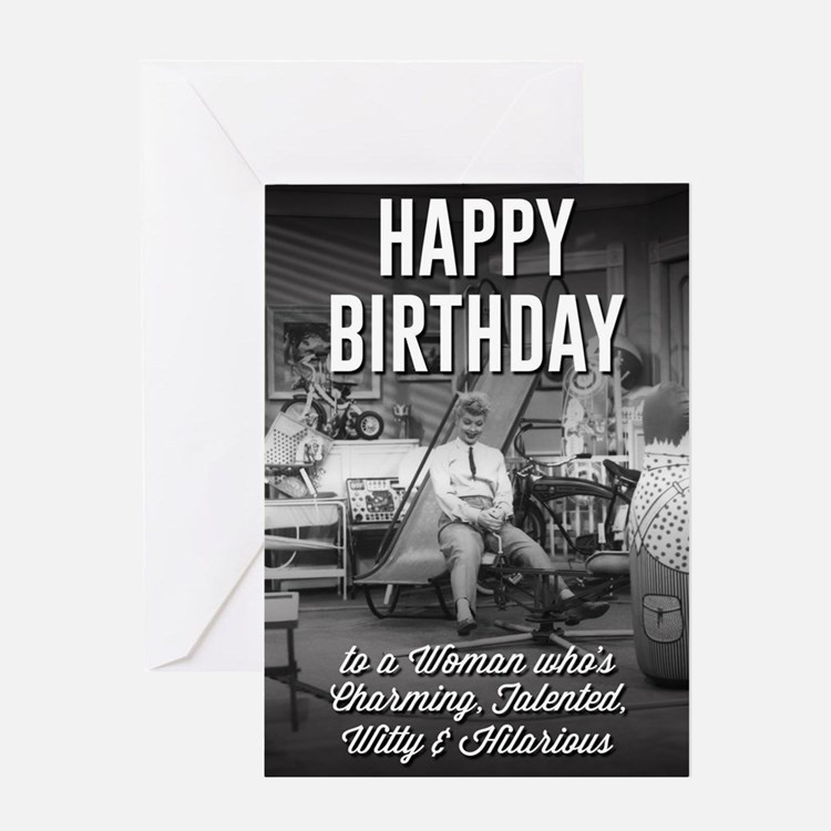 Happy Birthday Lucy Greeting Card