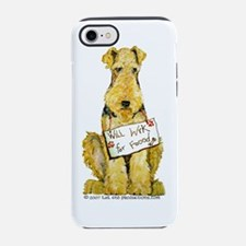 Funny Welsh terrier art iPhone 7 Tough Case