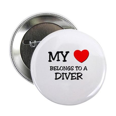 "My Heart Belongs To A DIVER 2.25"" Button"