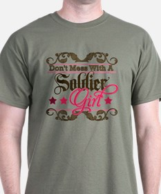 Don't Mess with a Soldier Gir T-Shirt