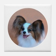 Sable Papillon Head Tile Coaster