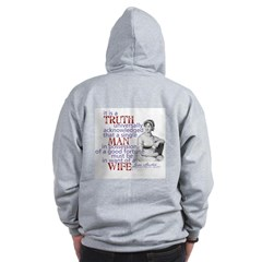 Truth Zip Hoodie back
