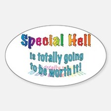 Special Hell Oval Decal