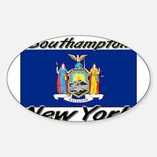 Southampton New York Oval Decal