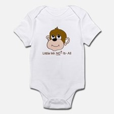 Know No It All Funny Boys Monkey Infant Bodysuit