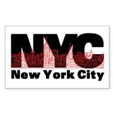 New York City Rectangle Decal