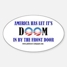 America's Doom Oval Decal