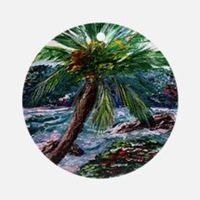 """Maui Palm"" Ornament (Round)"