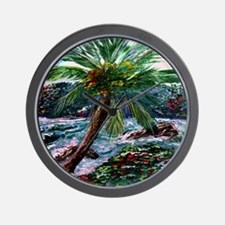 """Maui Palm"" Wall Clock"