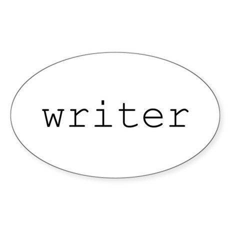 Writer Oval Sticker