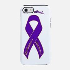 I Care About - Alzeimers Aware iPhone 7 Tough Case