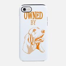 Cute Basset hound love iPhone 7 Tough Case
