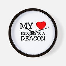 My Heart Belongs To A DEACON Wall Clock