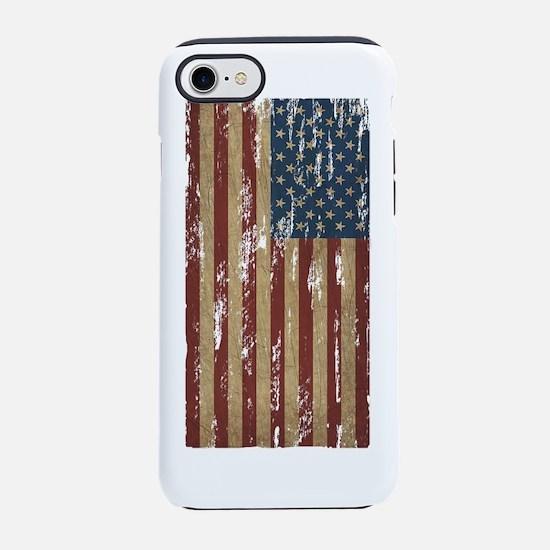 Patriotic Vintage American Fla iPhone 7 Tough Case
