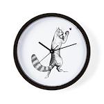 Springing Cat Wall Clock