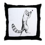 Springing Cat Throw Pillow