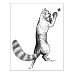 Springing Cat Small Poster