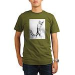 Springing Cat Organic Men's T-Shirt (dark)
