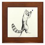 Springing Cat Framed Tile