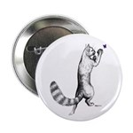 "Springing Cat 2.25"" Button (100 pack)"
