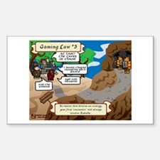 Gaming Law #3 Comic Rectangle Decal