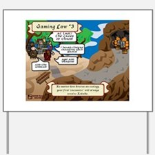 Gaming Law #3 Comic Yard Sign