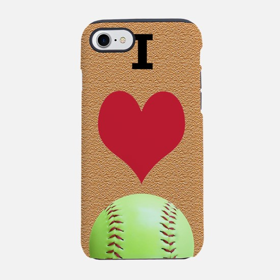 I Love Softball Itouch2 Itouch iPhone 7 Tough Case