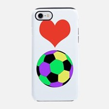 Love Soccer Itouch2 Itouch4 Ip iPhone 7 Tough Case