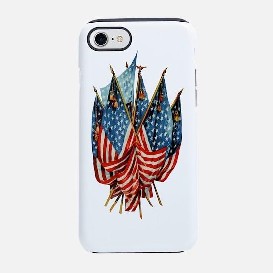 Vintage American Flags iPhone 7 Tough Case