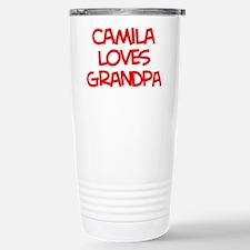 Camila Loves Grandpa Travel Mug