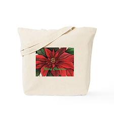 Cute Poinsettia Tote Bag