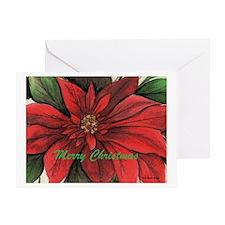 Unique Poinsettia Greeting Card