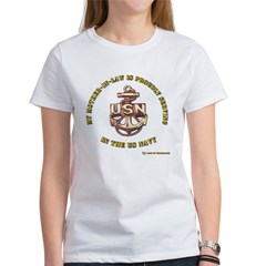 Navy Gold Women's T-Shirt