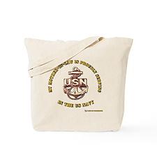 Navy Gold Tote Bag