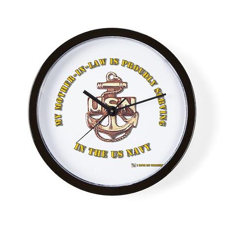 Navy Gold Wall Clock