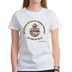 Navy Gold Father in Law Women's T-Shirt