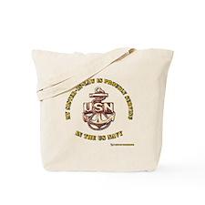 Navy Gold sister in Law Tote Bag