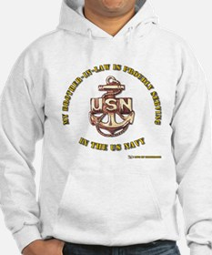 Navy gold Brother in Law Hoodie
