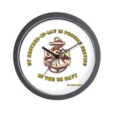 Navy gold Brother in Law Wall Clock