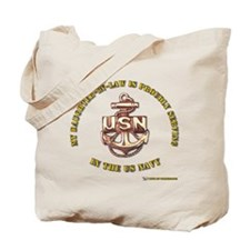 navy gold Daughter in Law Tote Bag