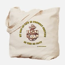 Navy Gold Son in Law Tote Bag
