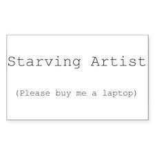 Starving Artist Rectangle Bumper Stickers